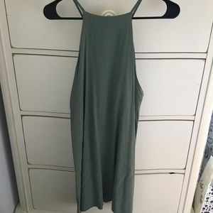 Forever 21 Olive Green Halter Sundress